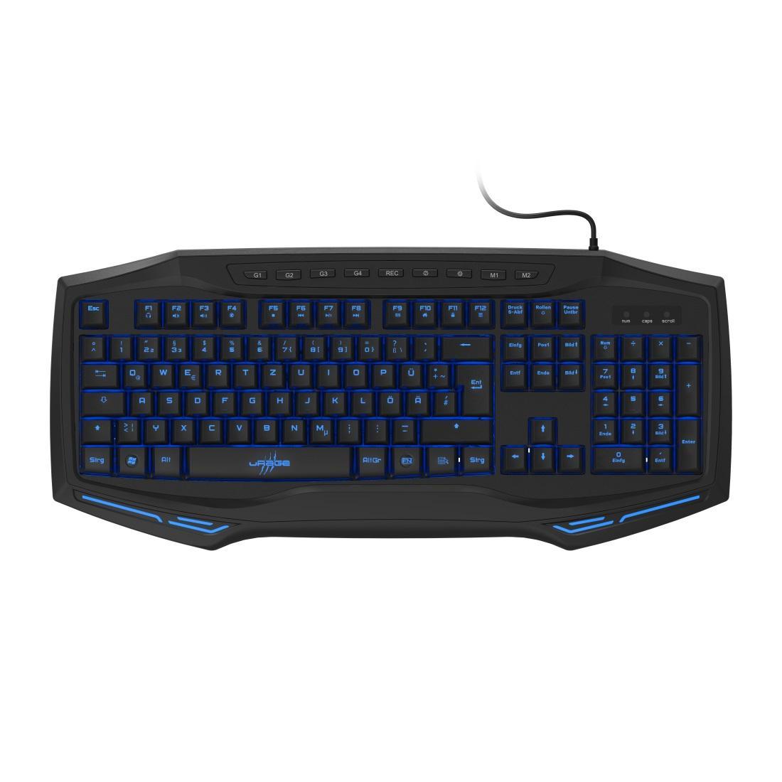 Геймърска клавиатура HAMA uRage Exodus 300 Illuminated, Черен-2