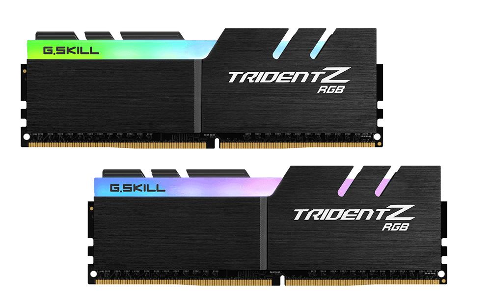 Памет G.SKILL Trident Z RGB 32GB(2x16GB) DDR4 PC4-25600 3200MHz CL16 F4-3200C16D-32GTZR