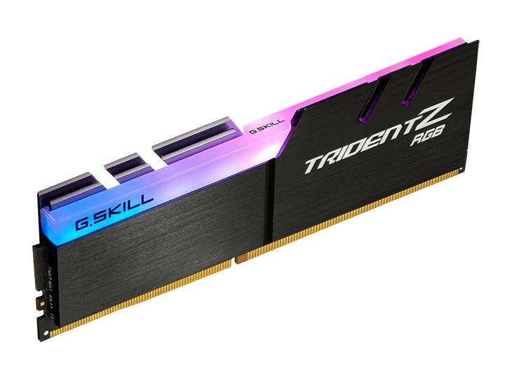 Памет G.SKILL Trident Z RGB 32GB(2x16GB) DDR4 PC4-25600 3200MHz CL16 F4-3200C16D-32GTZR-4