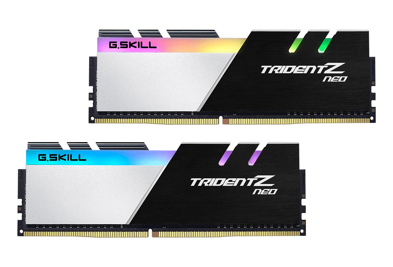 Памет G.SKILL Trident Z Neo RGB 32GB(2x16GB) DDR4 PC4-25600 3200MHz CL16 F4-3200C16D-32GTZN