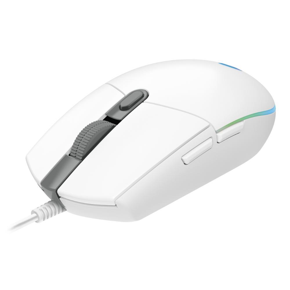Геймърска мишка Logitech G102 LightSync, RGB, Оптична, Жична, USB, Бяла-2