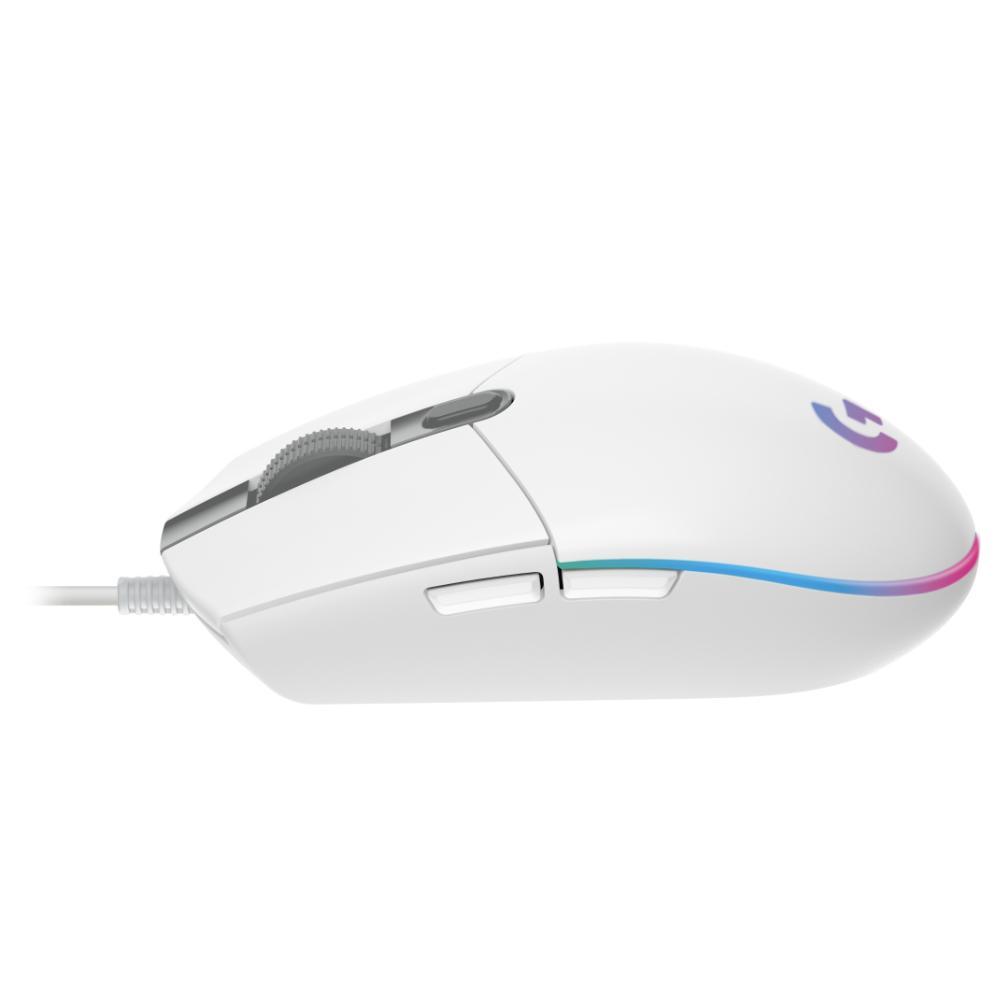 Геймърска мишка Logitech G102 LightSync, RGB, Оптична, Жична, USB, Бяла-4