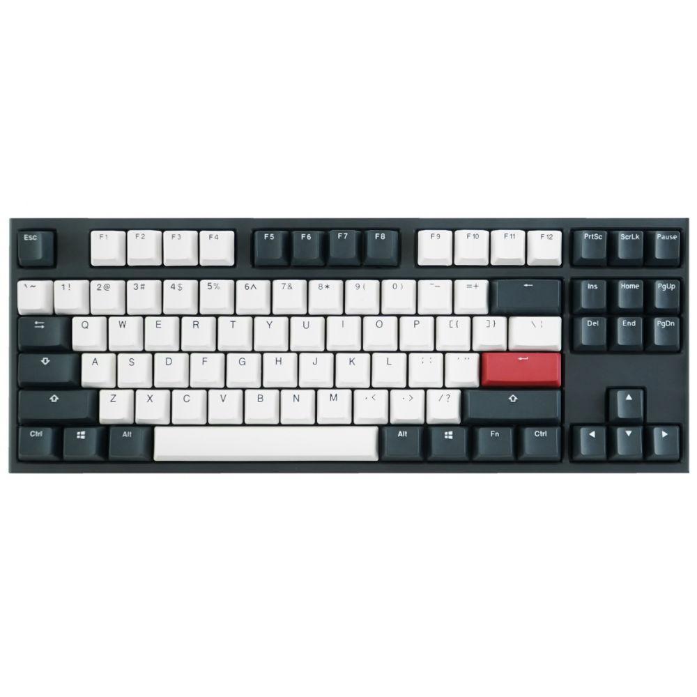 Геймърскa механична клавиатура Ducky One 2 Tuxedo TKL, Cherry MX Silver