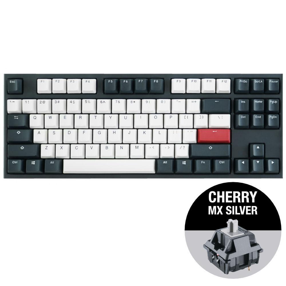 Геймърскa механична клавиатура Ducky One 2 Tuxedo TKL, Cherry MX Silver-2