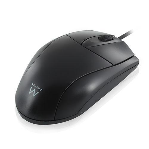 Оптична мишка Ewent EW3154, Жична, 1000 dpi, преходник USB-PS/2, Черна-2