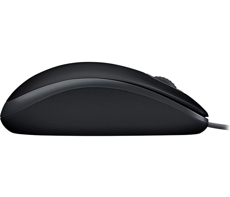 Жична оптична мишка LOGITECH B110 Silent, Черен, USB-4
