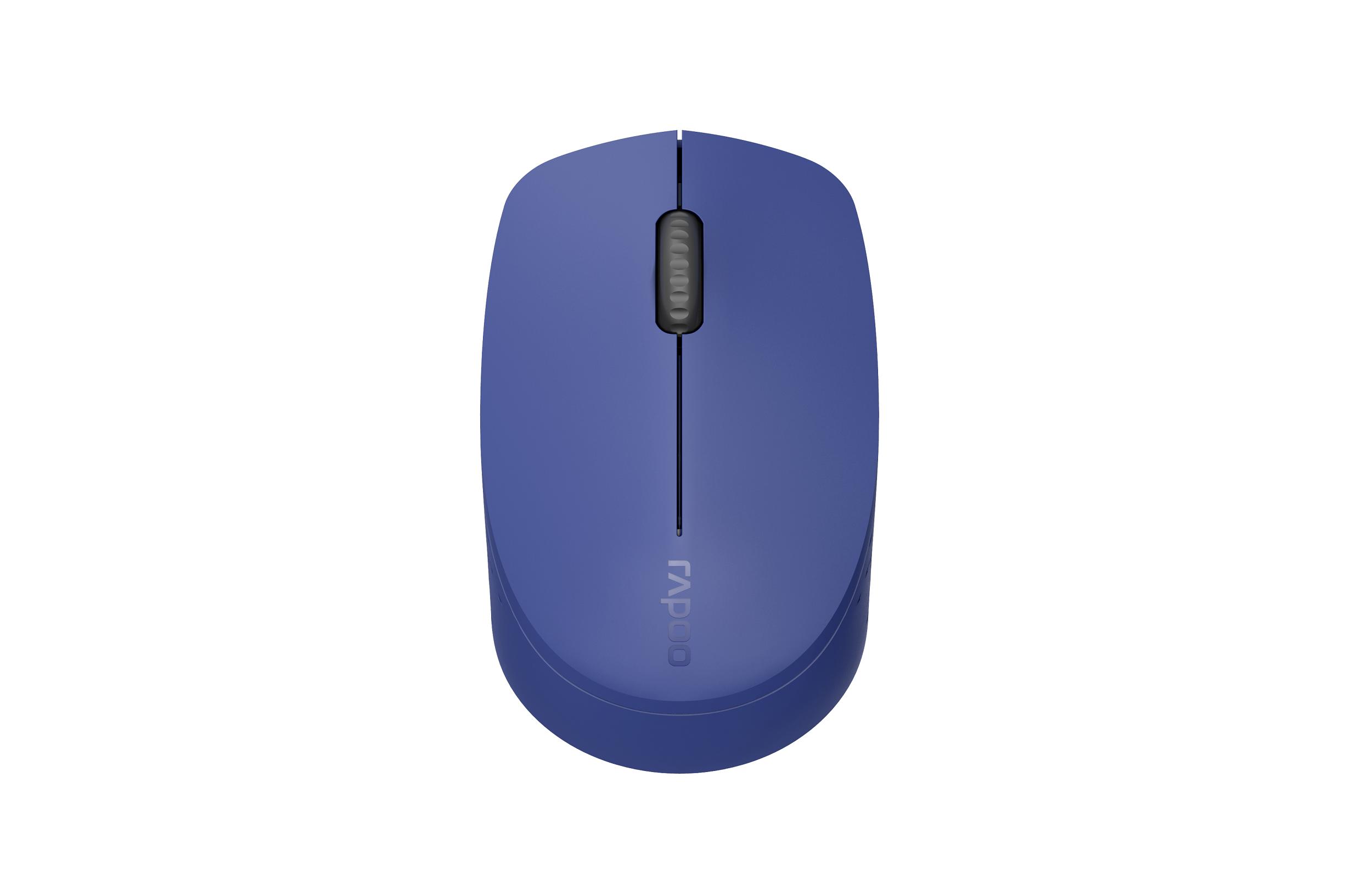 Безжична оптична мишка RAPOO M100 Silent, Multi-mode, безшумна, синя