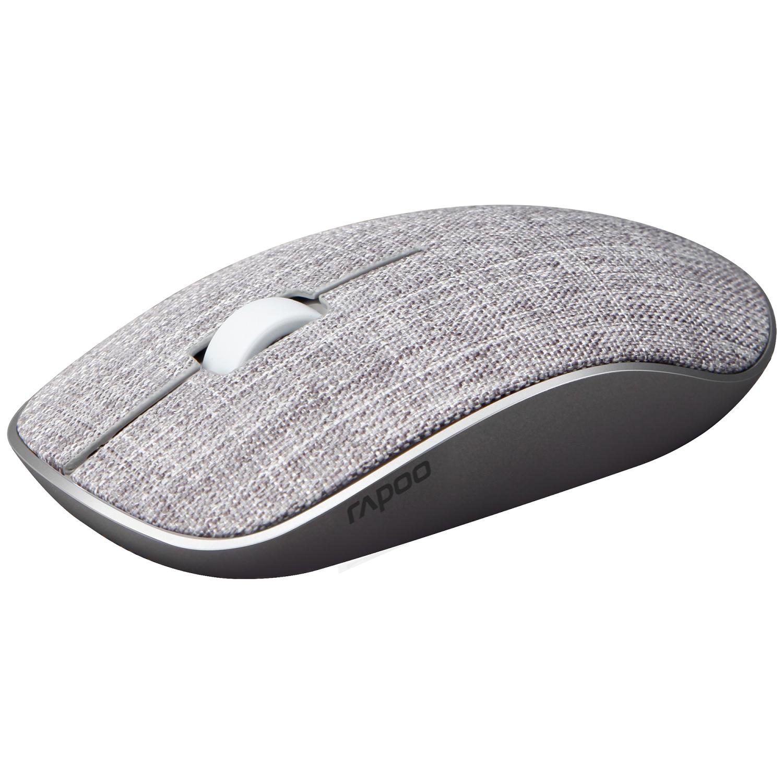 Безжична оптична мишка RAPOO 200 Plus multi-mode,сив, с покритие от плат-3