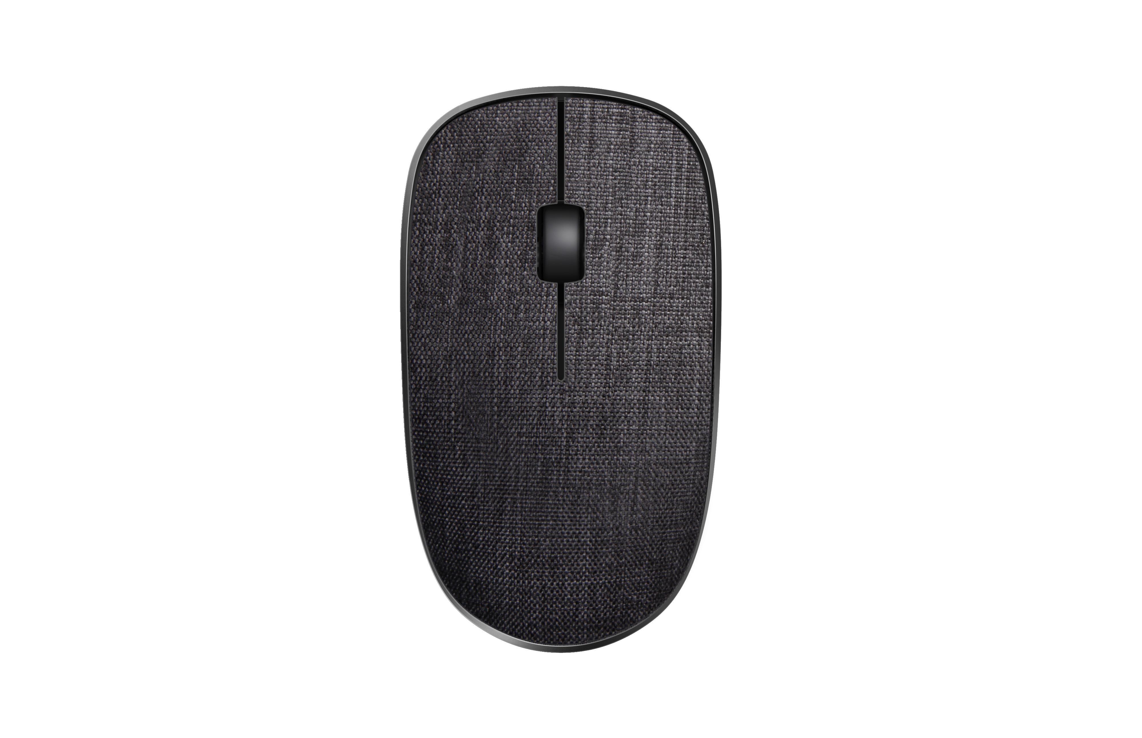 Безжична оптична мишка RAPOO 200 Plus multi-mode,черна, с покритие от плат