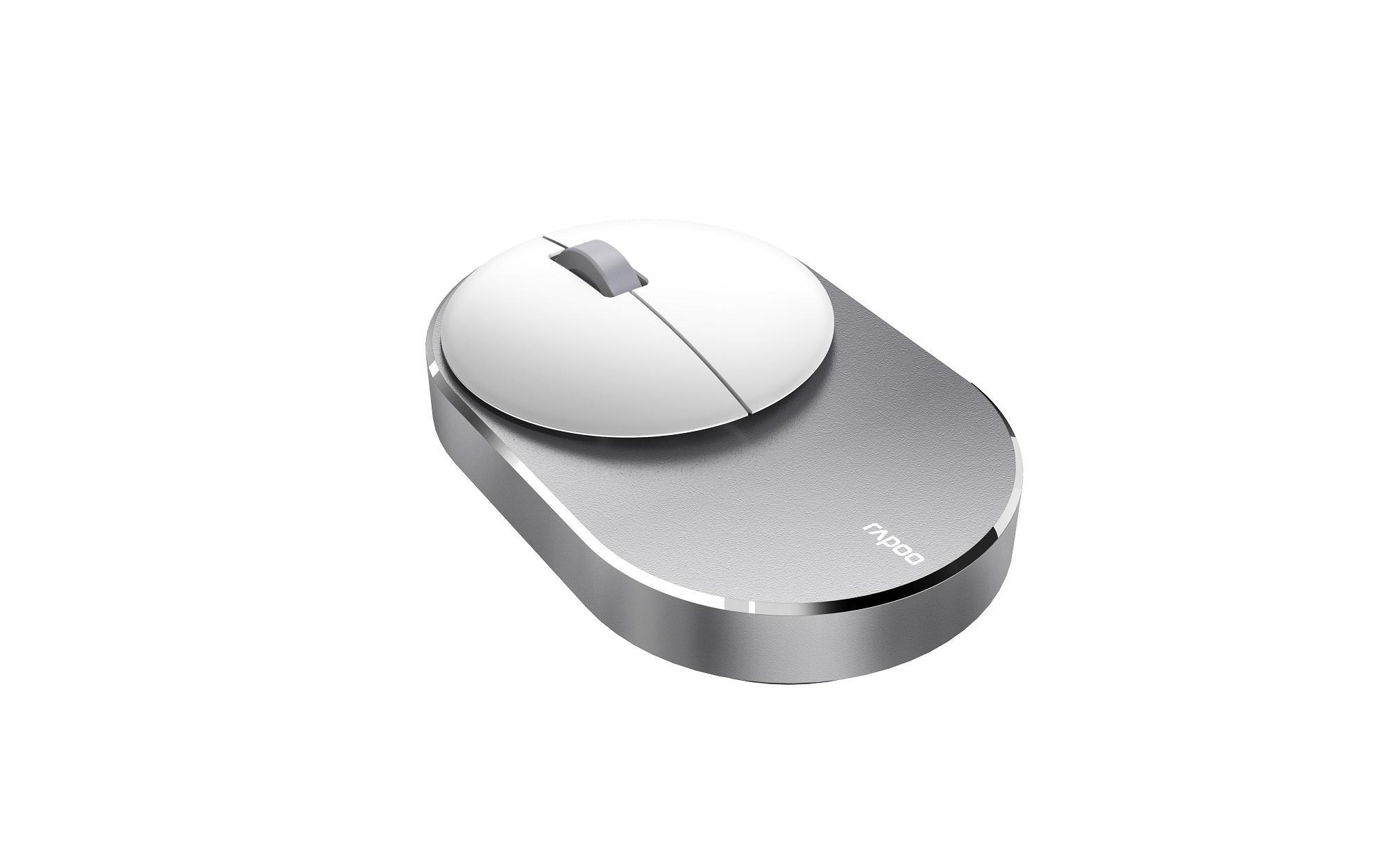 Безжична оптична мишка RAPOO M600, Multi-mode, свързване с до 3 у-ва, Сив/Бял