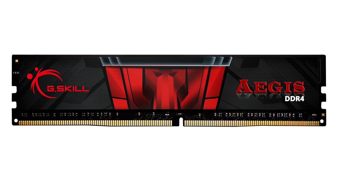 Памет G.SKILL Aegis 16GB(2x8GB) DDR4 PC4-25600 3200MHz CL16 F4-3200C16D-16GIS-4