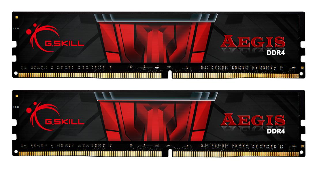 Памет G.SKILL Aegis 16GB(2x8GB) DDR4 PC4-24000 3000MHz CL16 F4-3000C16D-16GISB