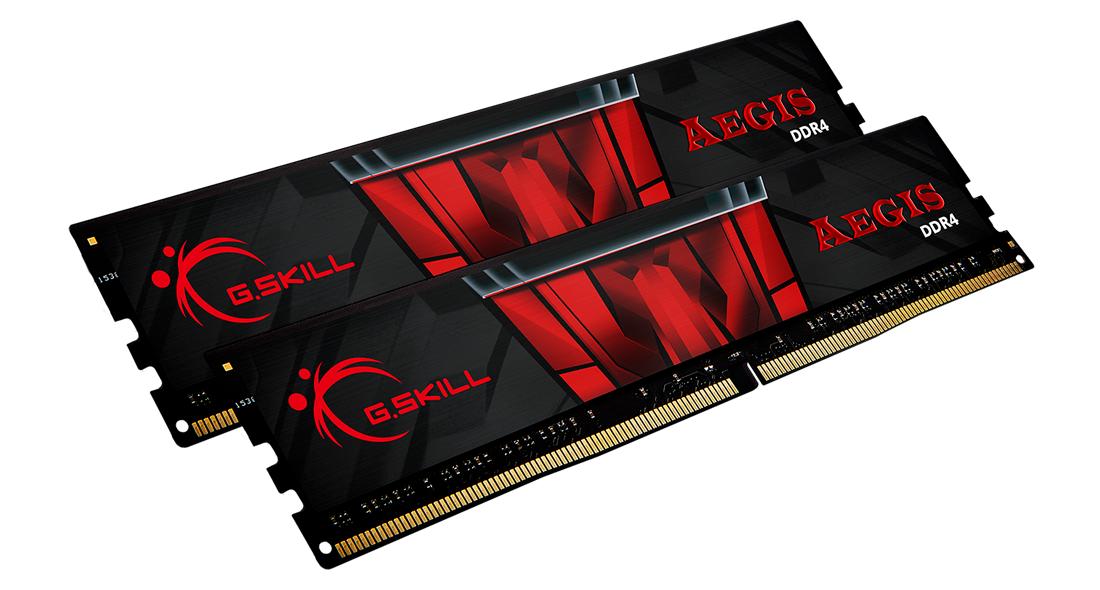 Памет G.SKILL Aegis 16GB(2x8GB) DDR4 PC4-24000 3000MHz CL16 F4-3000C16D-16GISB-2