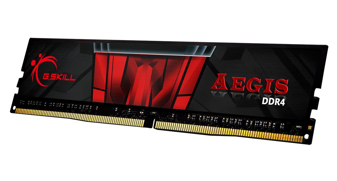 Памет G.SKILL Aegis 16GB(2x8GB) DDR4 PC4-24000 3000MHz CL16 F4-3000C16D-16GISB-3