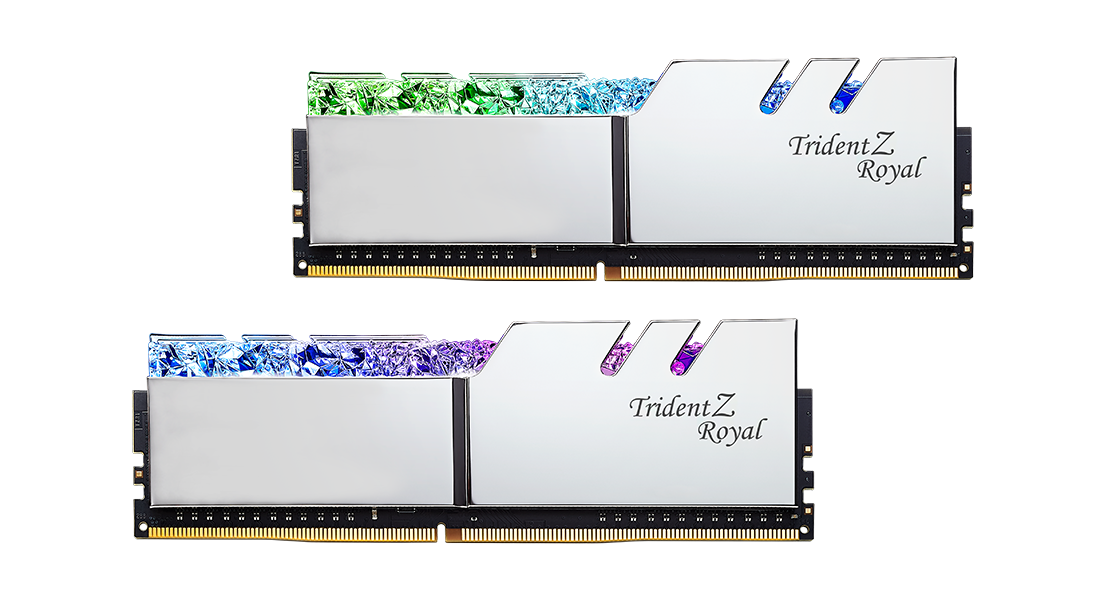 Памет G.SKILL Trident Z Royal 32GB(2x16GB) DDR4 PC4-32000 4000MHz CL19 F4-4000C19D-32GTRS