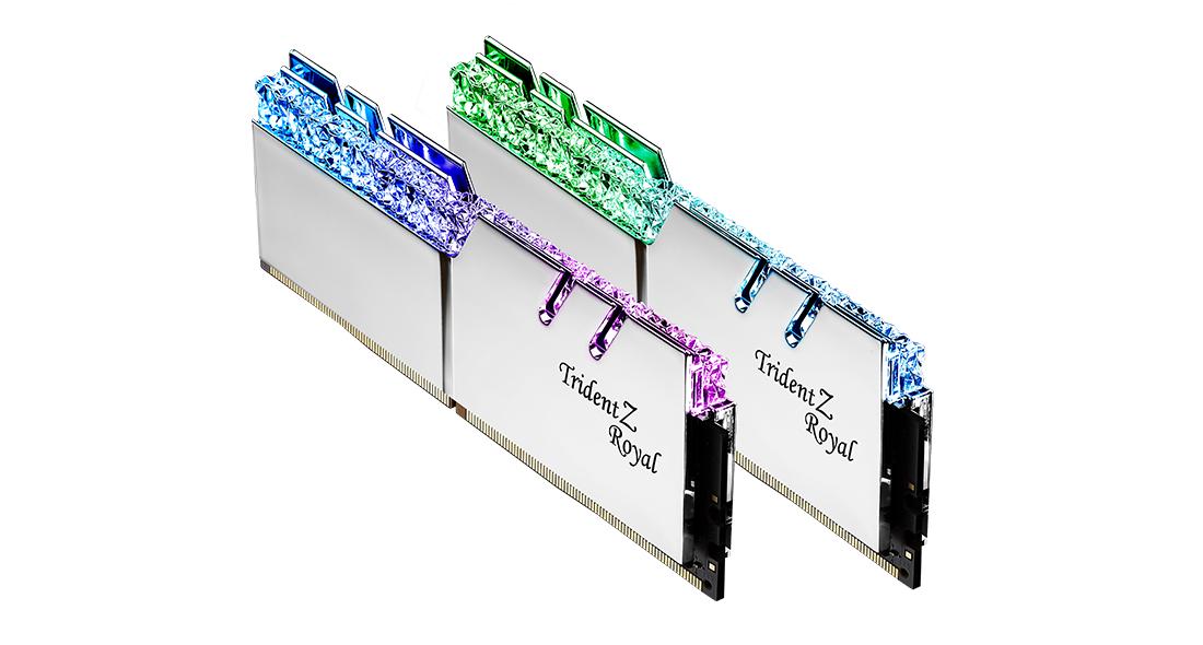 Памет G.SKILL Trident Z Royal 16GB(2x8GB) DDR4 PC4-32000 4000MHz CL18 F4-4000C18D-16GTRS-2