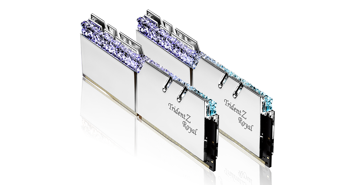 Памет G.SKILL Trident Z Royal 16GB(2x8GB) DDR4 PC4-32000 4000MHz CL18 F4-4000C18D-16GTRS-3