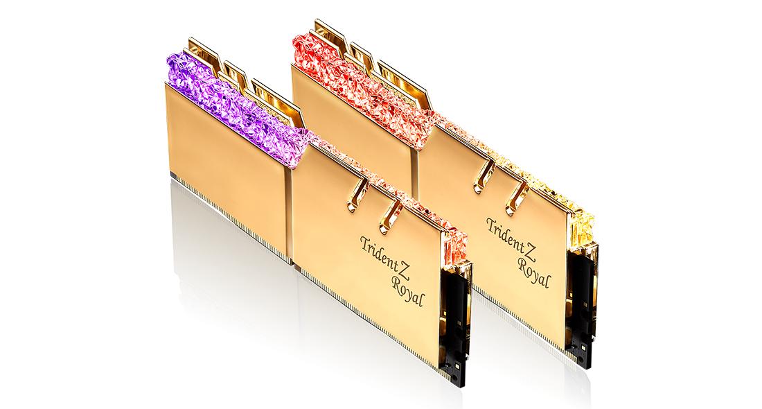 Памет G.SKILL Trident Z Royal 32GB(2x16GB) DDR4 PC4-32000 4000MHz CL19 F4-4000C19D-32GTRG-2