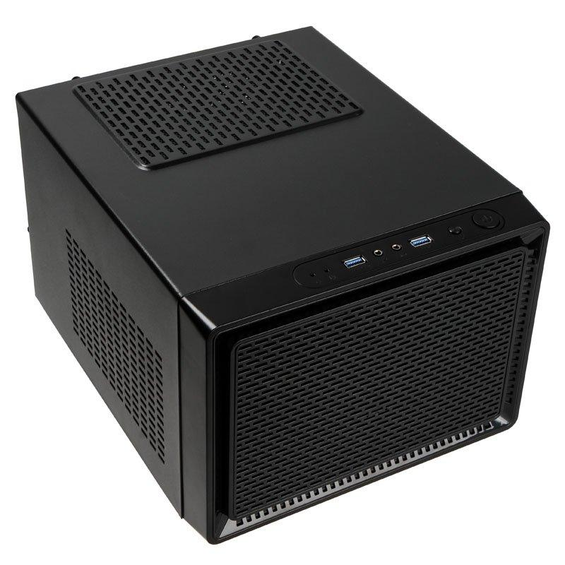 Кутия Kolink Satellite Cube, Mini-ITX, Micro-ATX, Черен-2