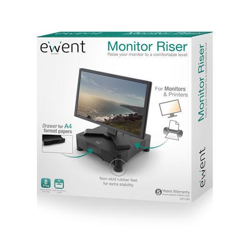 Стойка за монитор Ewent EW1280, за бюро, 27 кг, Черна-4