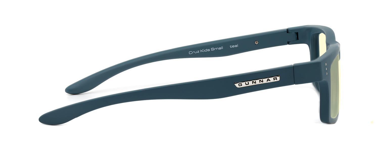 Детски компютърни очила GUNNAR Cruz Kids Small, Amber Natural, Тюркоаз-3