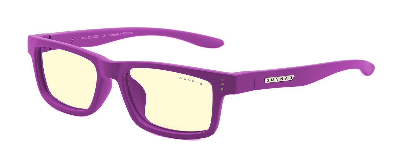 Детски компютърни очила GUNNAR Cruz Kids Small, Amber Natural, Лилав