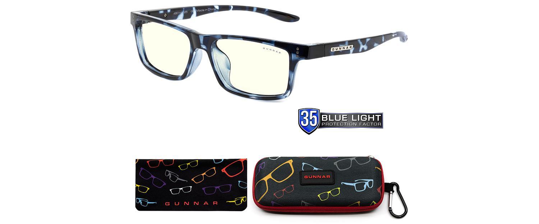 Детски компютърни очила GUNNAR Cruz Kids Large, Clear Natural, Син-4