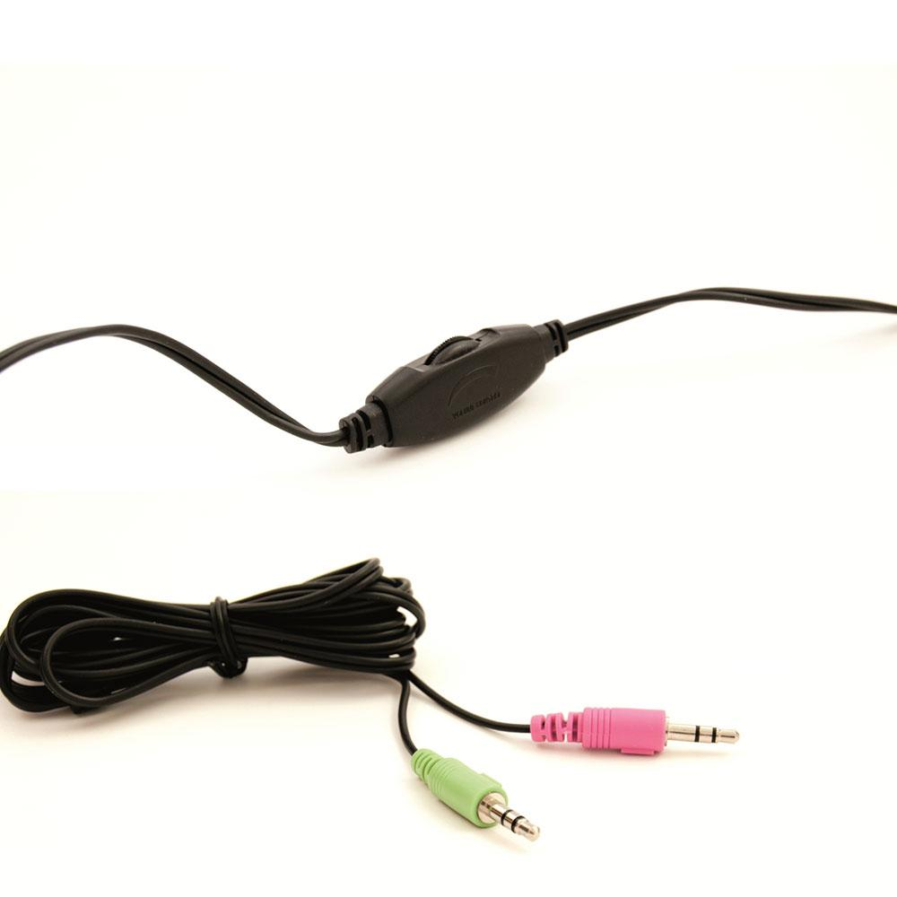 Слушалки Ewent EW3563, Микрофон, 2x 3.5mm жак, 2.1м кабел, Черни-2