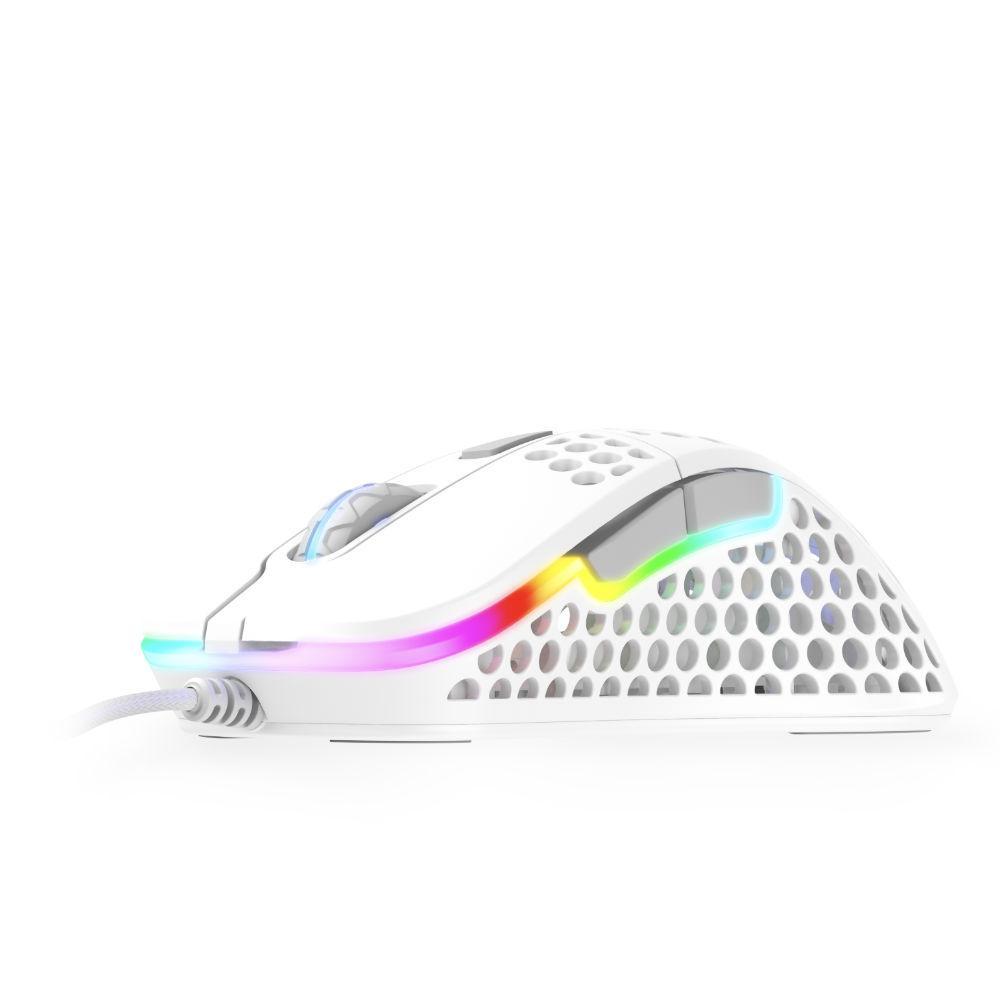 Геймърска мишка Xtrfy M4 White, RGB, Бял