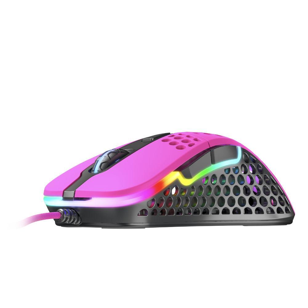 Геймърска мишка Xtrfy M4 Pink, RGB, Розов