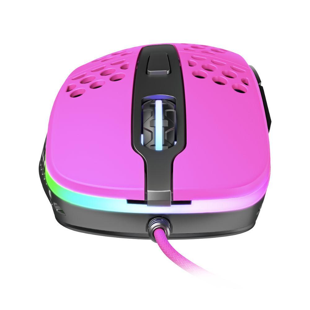 Геймърска мишка Xtrfy M4 Pink, RGB, Розов-3