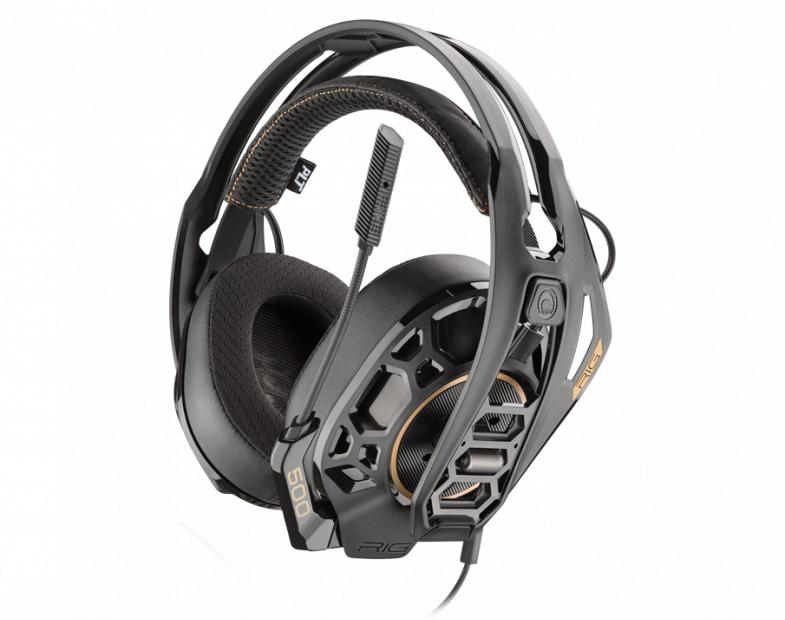 Геймърски слушалки Plantronics RIG 500 PRO HS, Микрофон, Златист