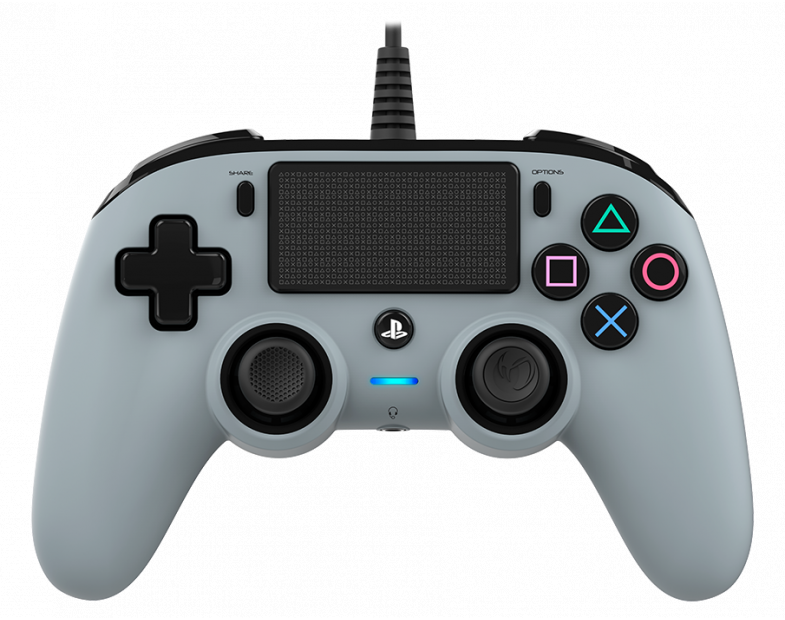 Жичен геймпад Nacon Wired Compact Controller, Сребърен