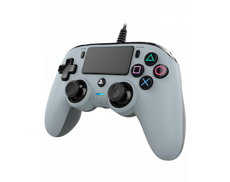 Жичен геймпад Nacon Wired Compact Controller, Сребърен-4