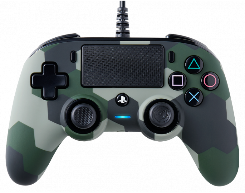 Жичен геймпад Nacon Wired Compact Controller Camo Green, Зелен