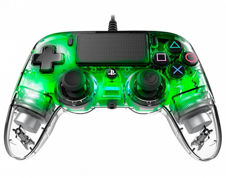 Жичен геймпад Nacon Wired Illuminated Compact Controller Green, Зелен-2