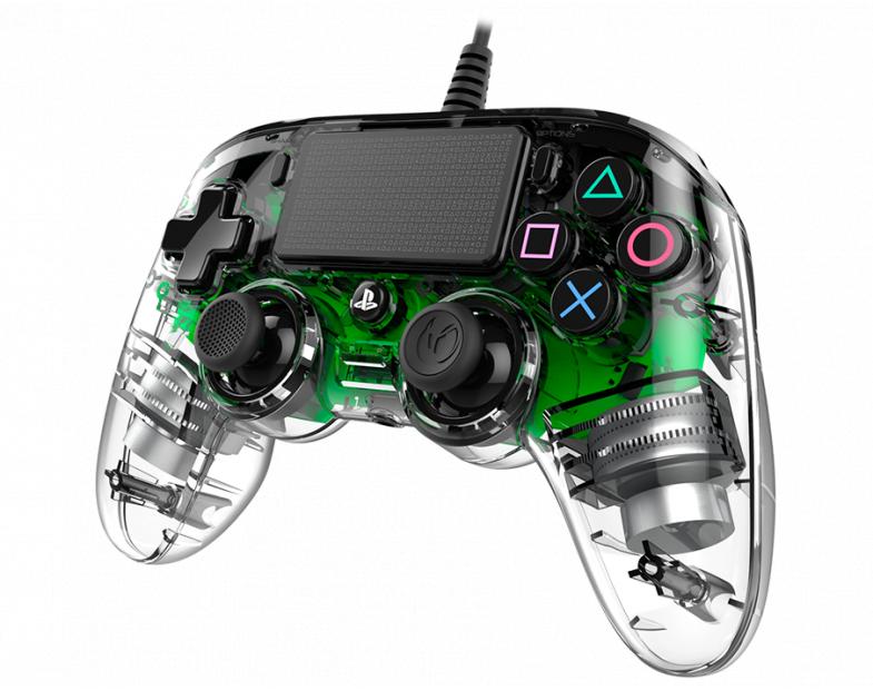 Жичен геймпад Nacon Wired Illuminated Compact Controller Green, Зелен-3