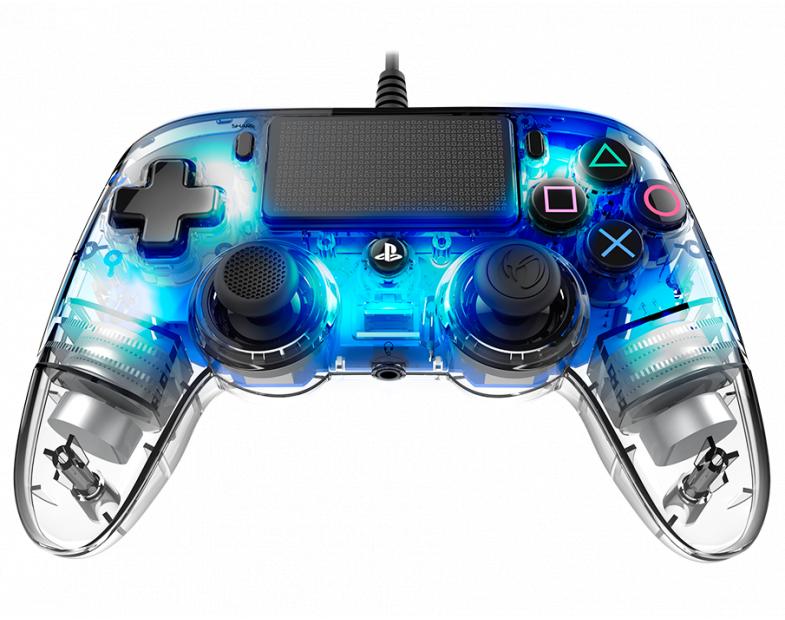 Жичен геймпад Nacon Wired Illuminated Compact Controller Blue, Син-2