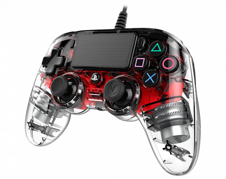 Жичен геймпад Nacon Wired Illuminated Compact Controller Red, Червен-3