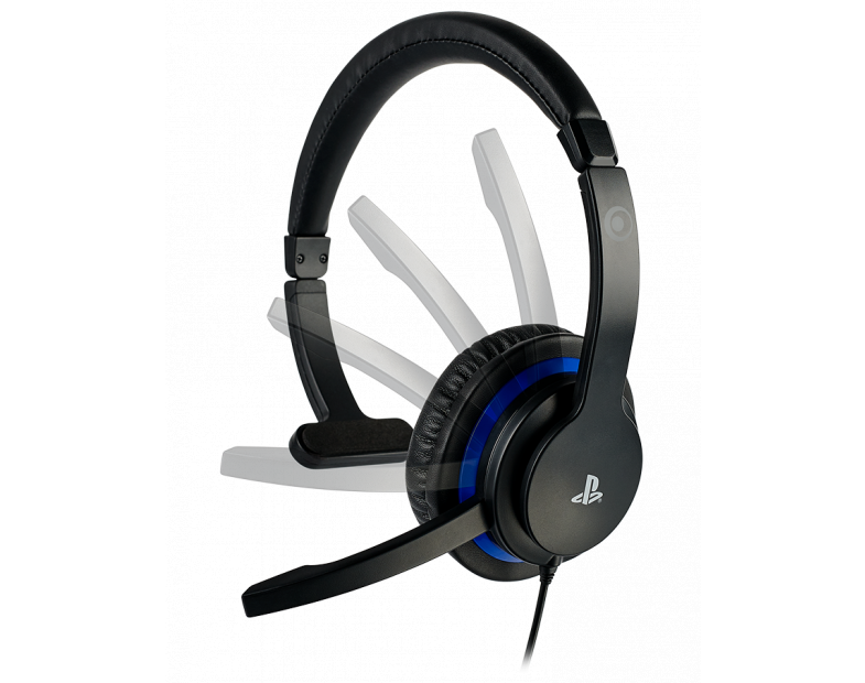 Геймърски слушалки Nacon Bigben PS4 Official Communicator, Микрофон, Черен-3