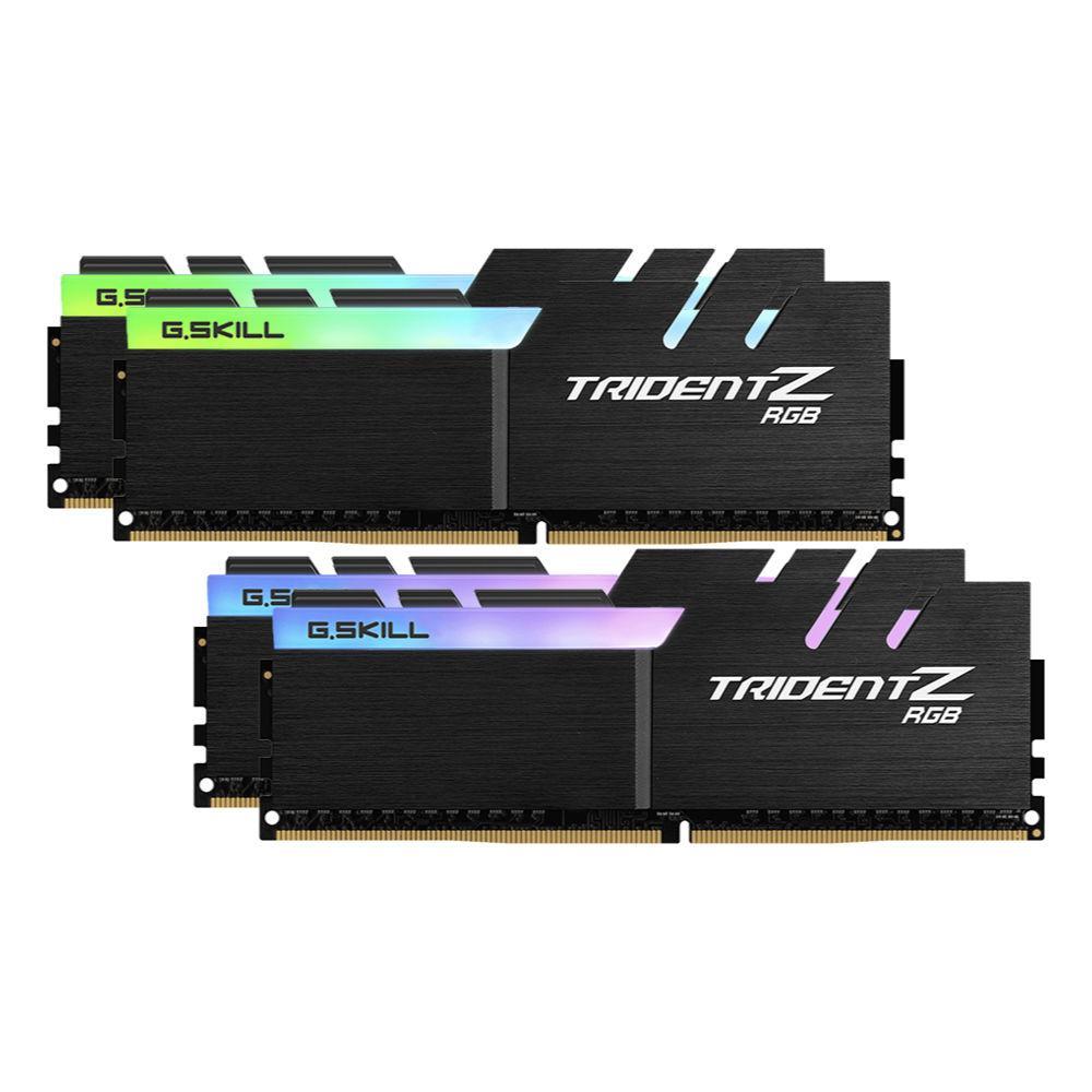 Памет G.SKILL Trident Z RGB 64GB(4x16GB) DDR4 PC4-28800 3600MHz CL17 F4-3600C17Q-64GTZR