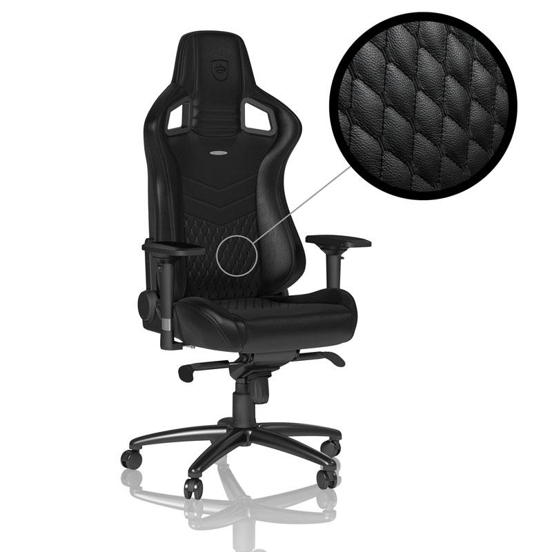 Геймърски стол noblechairs EPIC Real Leather, Black-2