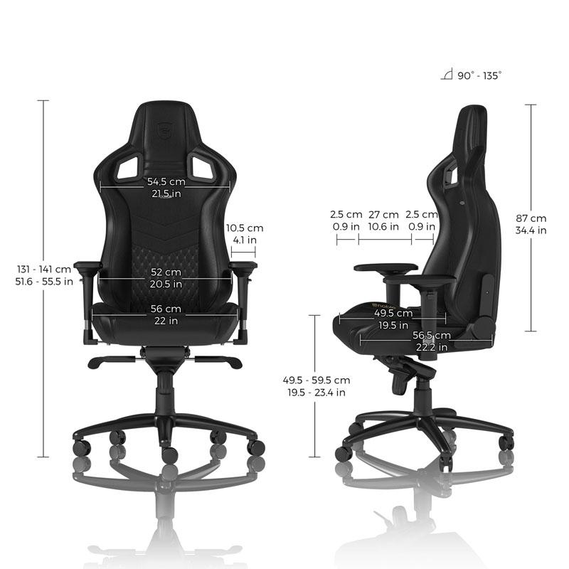 Геймърски стол noblechairs EPIC Real Leather, Black-3