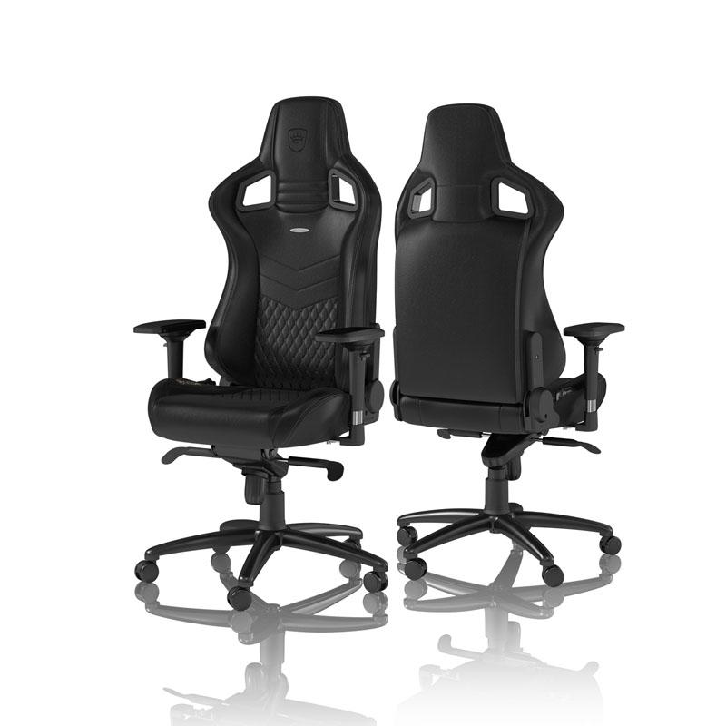 Геймърски стол noblechairs EPIC Real Leather, Black-4