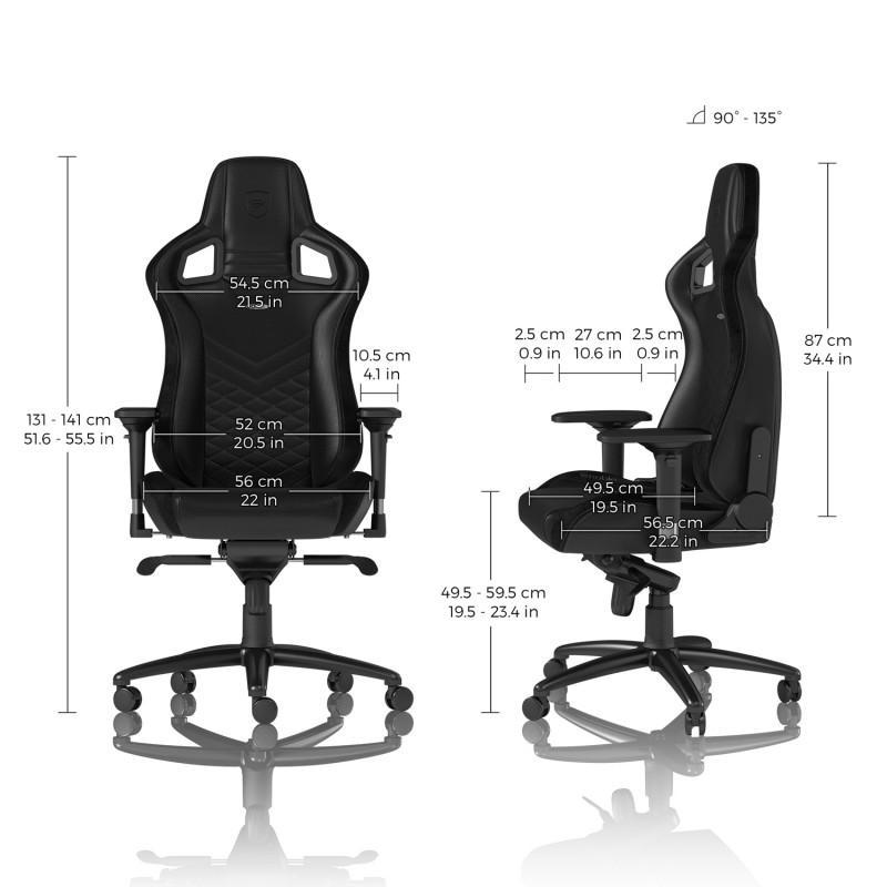 Геймърски стол noblechairs EPIC, Black-4