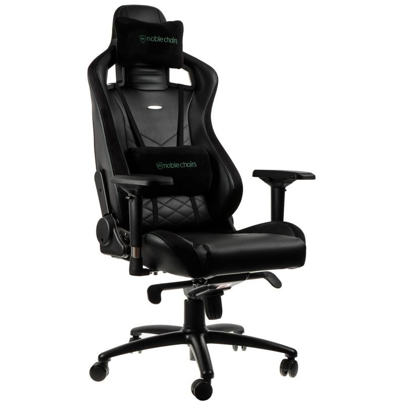 Геймърски стол noblechairs EPIC, Black/Green