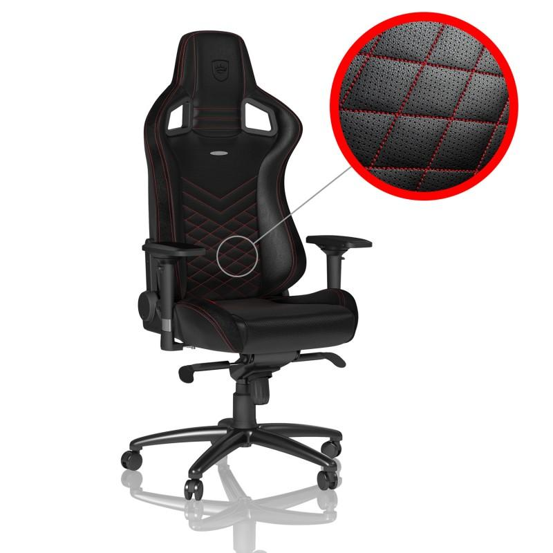 Геймърски стол noblechairs EPIC, Black/Red-2