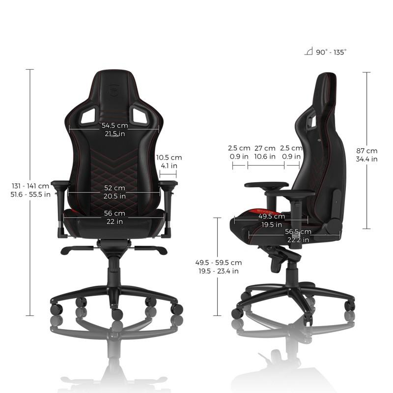 Геймърски стол noblechairs EPIC, Black/Red-4