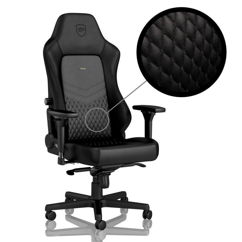 Геймърски стол noblechairs HERO Real Leather, Black-2