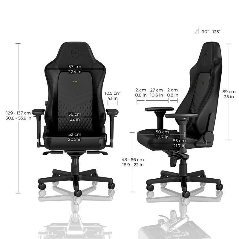 Геймърски стол noblechairs HERO Real Leather, Black-4